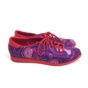 Adidas Stan Smith lace sleek series purple paisley